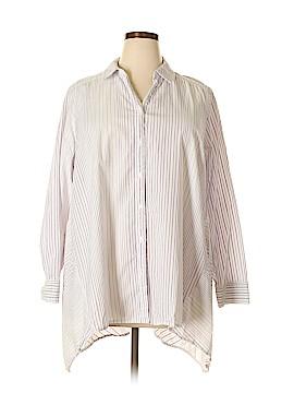 Lane Bryant 3/4 Sleeve Button-Down Shirt Size 22 - 24 Plus (Plus)