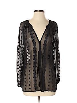 Zoa Long Sleeve Silk Top Size XS