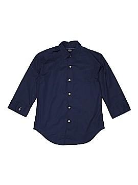 Ralph Lauren Sport 3/4 Sleeve Button-Down Shirt Size X-Small (Youth)