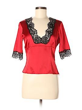 Moda International Short Sleeve Silk Top Size M
