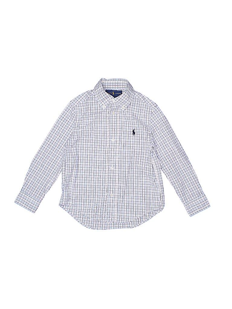 fb50d9de65f7 Ralph Lauren 100% Cotton Checkered Gingham White Long Sleeve Button ...