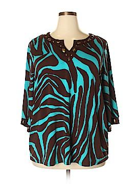 Maggie Barnes 3/4 Sleeve Top Size 1X (Plus)