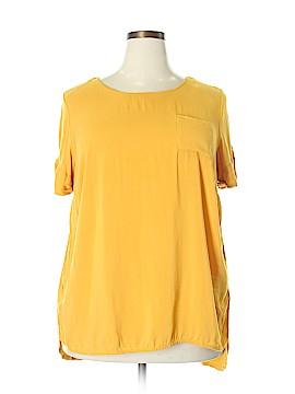 Stylus Short Sleeve Blouse Size 1X (Plus)