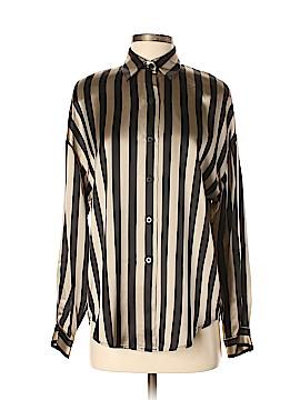 Linda Allard Ellen Tracy Long Sleeve Silk Top Size 4