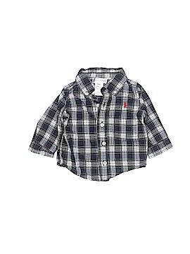 Ralph by Ralph Lauren Long Sleeve Button-Down Shirt Size 3 mo