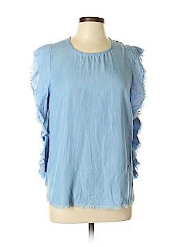 Elan Short Sleeve Blouse Size L