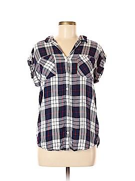 Jach's Girlfriend Short Sleeve Button-Down Shirt Size M