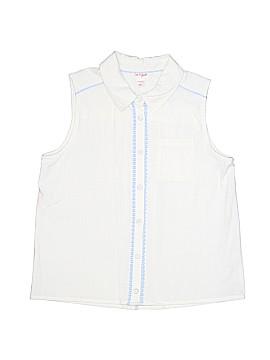 Cat & Jack Sleeveless Button-Down Shirt Size X-Large (Kids)