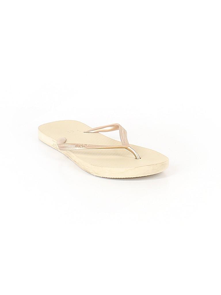 a4dcadf65618 Gap Metallic Tan Flip Flops Size 5 6 - 64% off