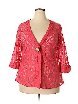 JM Collection 3/4 Sleeve Blouse Size 0X (Plus)