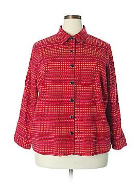 Cj Banks Long Sleeve Button-Down Shirt Size 2X (Plus)
