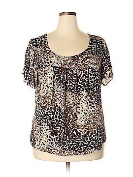 Rafaella Short Sleeve Blouse Size 3X (Plus)