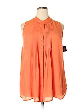 Alfani Sleeveless Button-Down Shirt Size 14