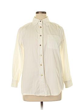 Denim 24/7 3/4 Sleeve Button-Down Shirt Size 14