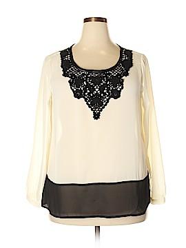 C.O.C. Long Sleeve Blouse Size 1X (Plus)