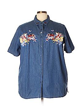 Bobbie Brooks Short Sleeve Button-Down Shirt Size 22 (Plus)