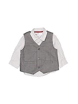 F.A.O Schwarz Long Sleeve Button-Down Shirt Size 6 mo