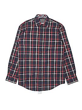Thomas Dean Long Sleeve Button-Down Shirt Size 14 - 16