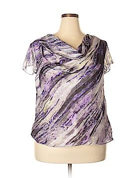 Jones New York Collection Short Sleeve Blouse Size 18 (Plus)
