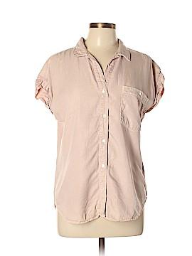 SNEAK PEEK Short Sleeve Button-Down Shirt Size L