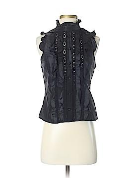 Teri Jon by Rickie Freeman Short Sleeve Silk Top Size 4
