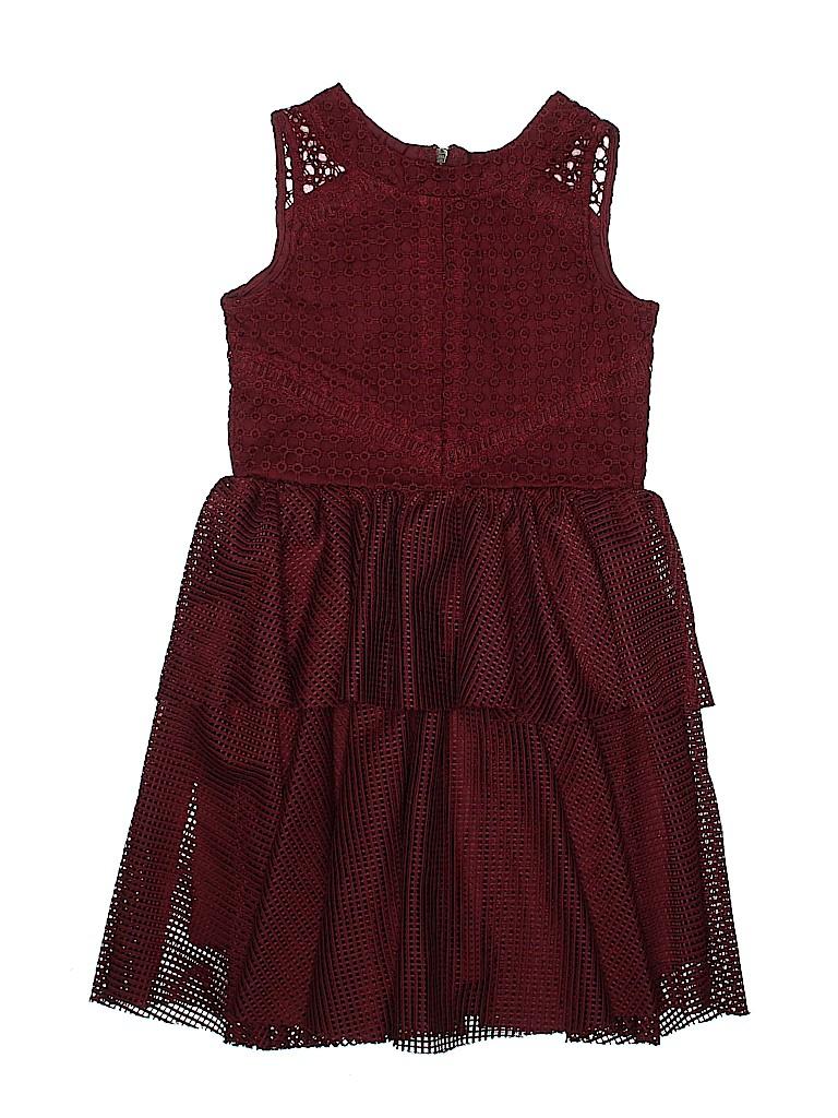c65a22b97803 Nanette Lepore 100% Nylon Solid Burgundy Dress Size 14 - 72% off ...
