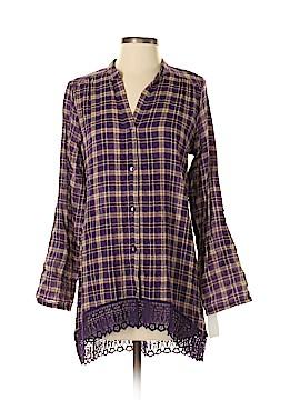 WallpapHER Long Sleeve Button-Down Shirt Size S