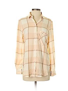 Zara Basic Long Sleeve Button-Down Shirt Size S