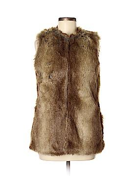 Trafaluc by Zara Faux Fur Vest Size M