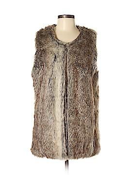 INC International Concepts Faux Fur Vest Size Med - Lg