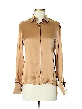 Armani Collezioni Long Sleeve Silk Top Size 4