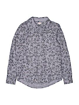Cat & Jack Long Sleeve Button-Down Shirt Size 16