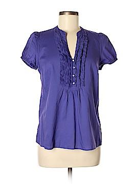 Ann Taylor LOFT Outlet Short Sleeve Button-Down Shirt Size M (Petite)