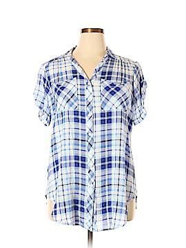 Intro Short Sleeve Blouse Size 1X (Plus)