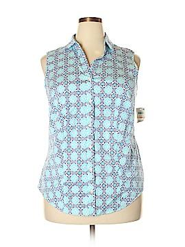 Charter Club Sleeveless Button-Down Shirt Size 18 (Plus)