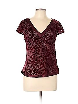 Daisy Fuentes Short Sleeve Blouse Size L (Petite)