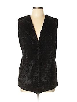 JM Collection Faux Fur Vest Size L