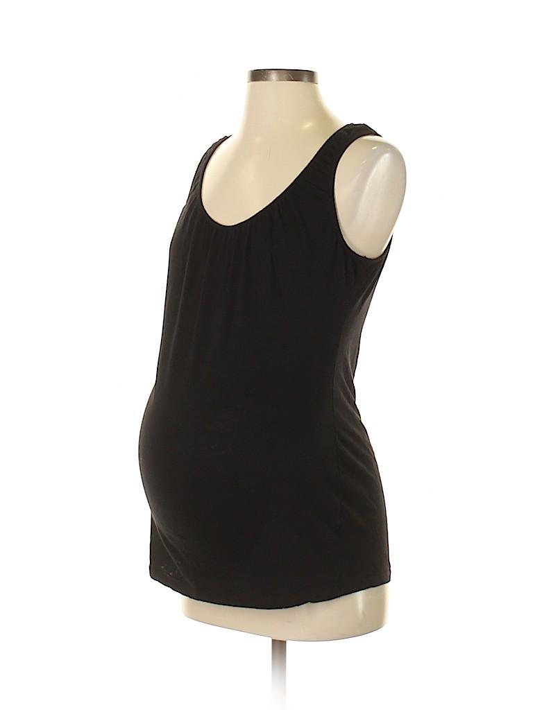 debaa4bd53cd0 Oh Baby By Motherhood 100% Cotton Solid Black Tank Top Size S ...