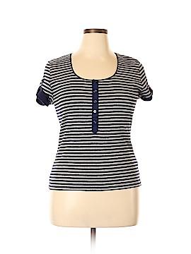 Josephine Chaus Short Sleeve Henley Size XL