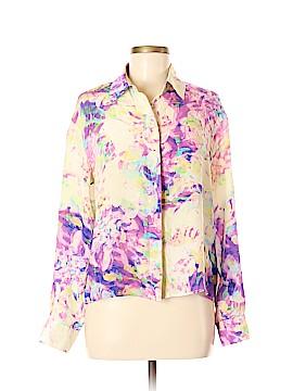 Parker Long Sleeve Silk Top Size M