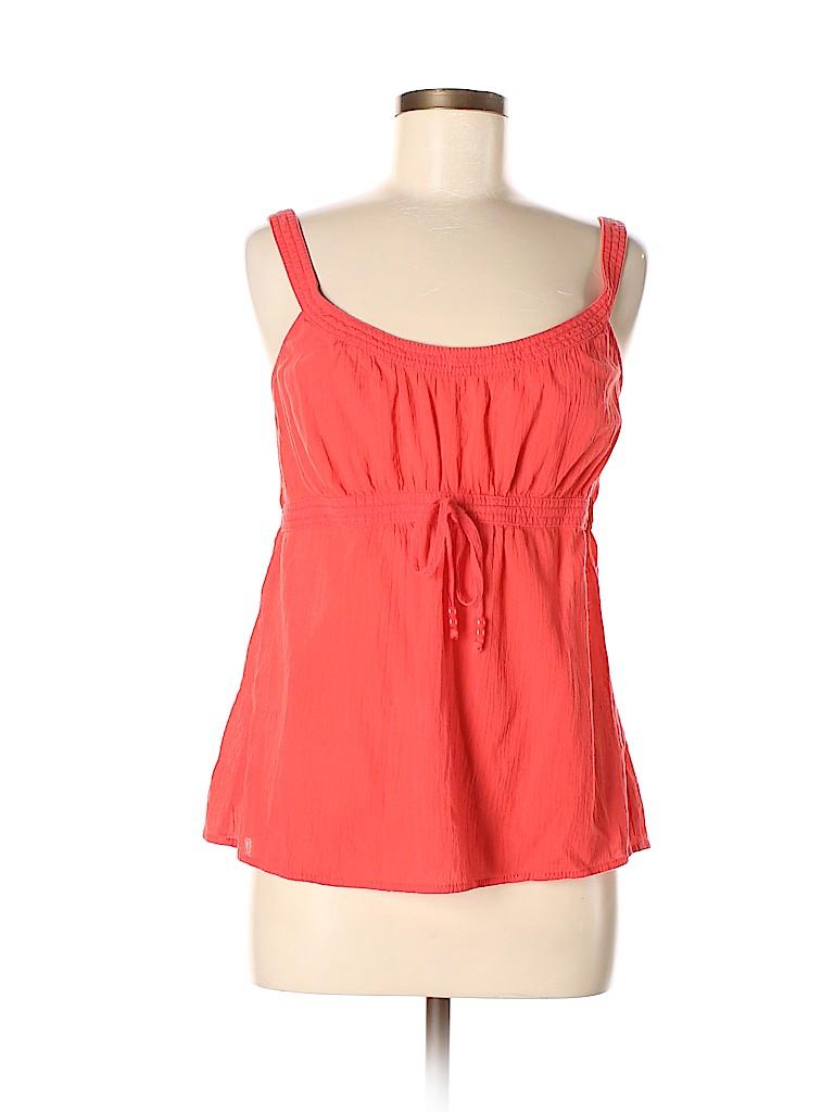 01e03a184edaa6 Ann Taylor LOFT 100% Cotton Solid Coral Sleeveless Blouse Size M ...