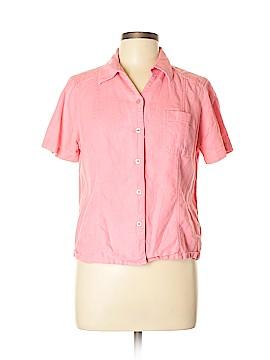 Christopher & Banks Short Sleeve Button-Down Shirt Size L