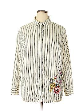 Ava & Viv Long Sleeve Button-Down Shirt Size 3X (Plus)
