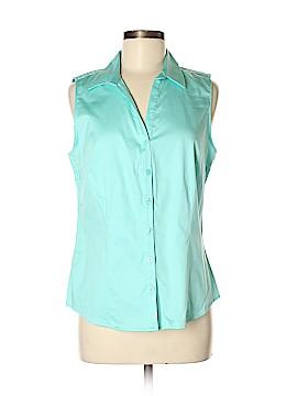 Dana Buchman Sleeveless Button-Down Shirt Size M