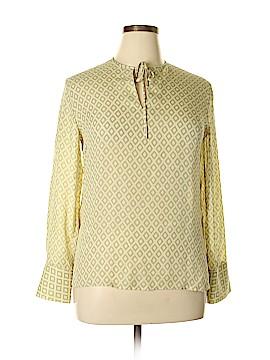 Rena Rowan Long Sleeve Silk Top Size 12