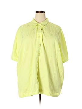 Liz & Me Short Sleeve Button-Down Shirt Size 4X (Plus)