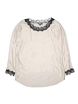 Go Silk Long Sleeve Silk Top Size M