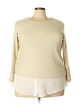 Calvin Klein Long Sleeve Top Size 1X (Plus)