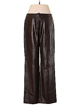 Oscar De La Renta Leather Pants Size 6