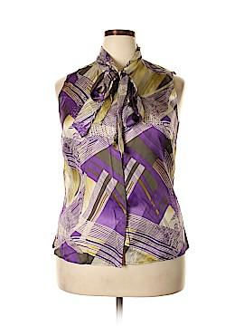 Jones New York Collection Sleeveless Silk Top Size 16
